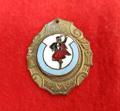 Vintage Brass Highland Dancing Medallion Badge