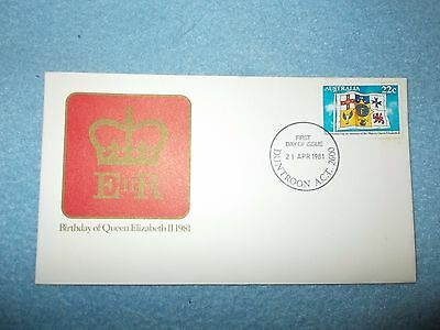BIRTHDAY OF QE 11 1981 First day of Issue. Duntroon ACT 21 April 1981 with Stamp
