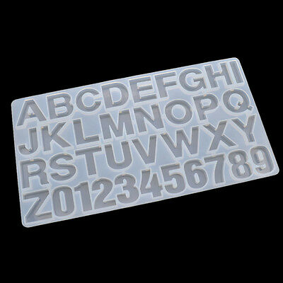 DIY Alphanumeric Symbols Silicone Mold Handmade Making Jewelry Pendant Mould