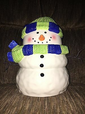 Scentsy Snowman Cookie Jar New In Box Discontinued Hostess Gift NIB