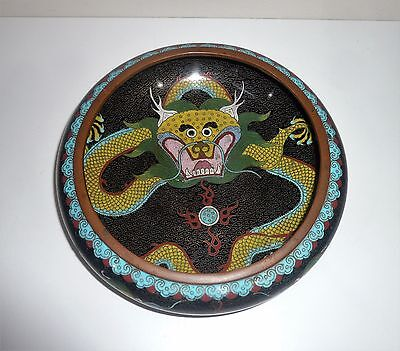 ANTIQUE EARLY 1900s INTRICATE DESIGNED CLOISONNE BOWL WITH MAKERS SEAL ON BASE