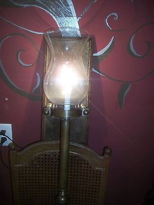 Mid Century Brass Wall Sconce / Electric Oil Lamp / Torch