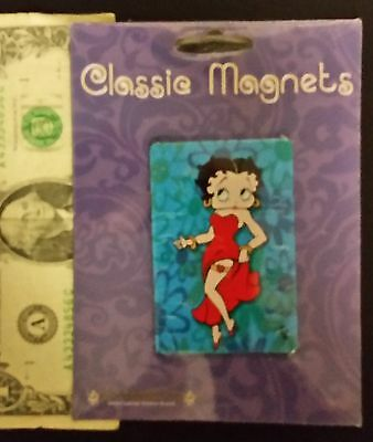 "Classic Betty Boop Metal Magnets, New 2"" x 3"""