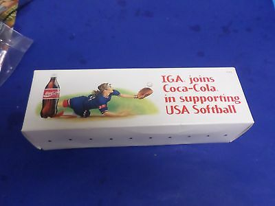 Iga Joins Coca-Cola In Supporting Usa Softball, 1996 And 2000, New In Box.