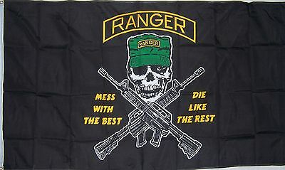 NEW 3x5 RANGER MESS WITH THE BEST ARMY AIRBORNE RANGERS FLAG