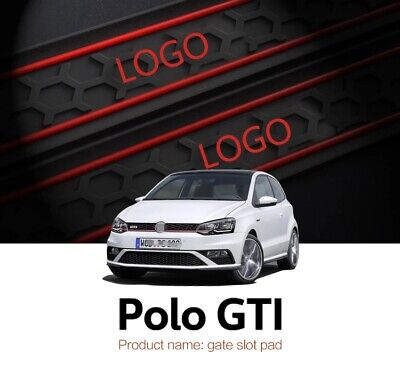 Gate slot mats For  VW Polo GTI 2011-2016 Non-slip mats Auto Accessories 9pcs