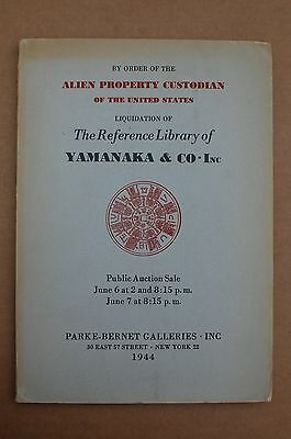 Parke Bernet Chinese Catalog, The Reference Library of Yamanaka & Co.,Inc. 1944