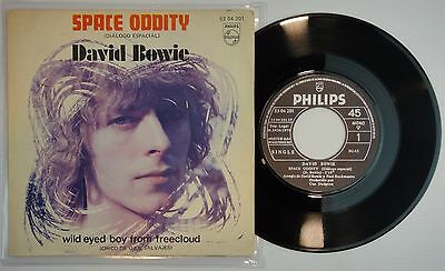 "7"" DAVID BOWIE SPACE ODDITY Spain 1970 N.MINT Orig FIRST 45RPM PHILIPS Extr Rare"