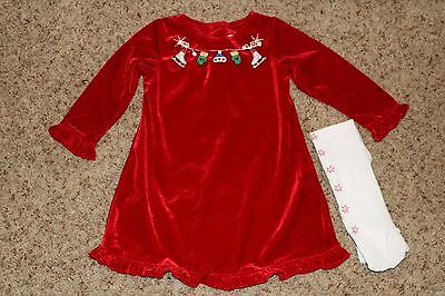 Sophie Rose brand BABY GIRLS CHRISTMAS HOLIDAY DRESS, size 24 months