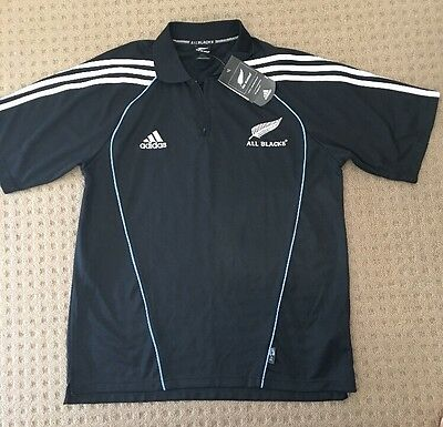 All Blacks Adidas polo shirt Size XL