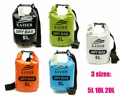 Kaiser 5L 10L 20L Premium Waterproof Dry Bag Sack Kayak Fishing Camping Boating