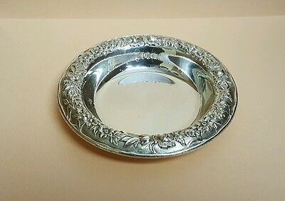 ANTIQUE STERLING SILVER REPOUSSE bowl BY S. KIRK & SON #407A