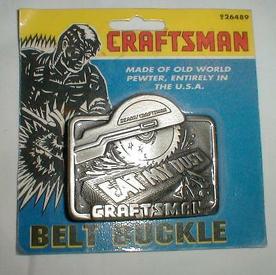 Sealed Pack Craftsman Belt Buckle Vintage Pewter USA