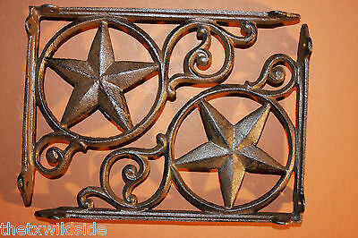 (2),western Star, Shelf Brackets, Country Decor,cowboys, Ranch, Corbels, B-19