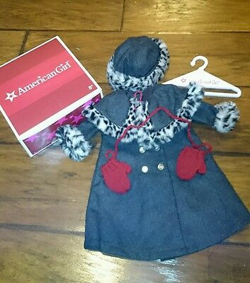 New In Box American Girl NELLIE'S Holiday Coat Outfit With Mittens & Hat Retired