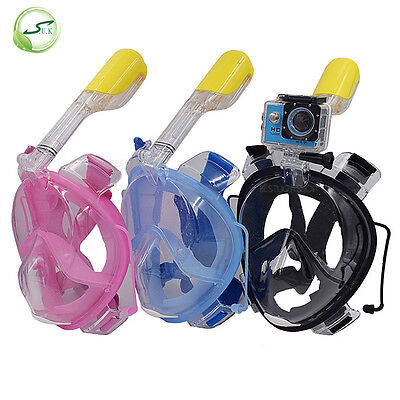 2017 New Breath Full Face Mask Surface Diving Snorkel Scuba for GoPro Swim Tools