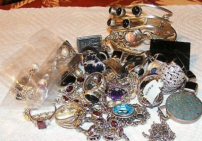 340 grams, 12 ounces sterling silver wearable jewelry lot