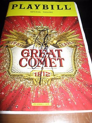The Great Comet Broadway Opening Night Playbill Autographed by Josh Groban