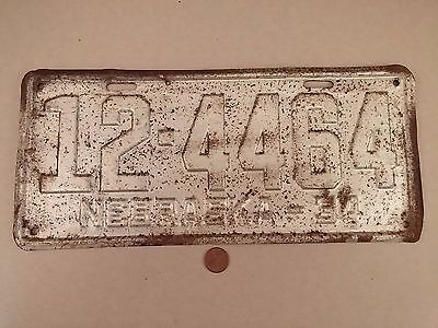 1934 '34 Knox County Nebraska License Plate 12-4464
