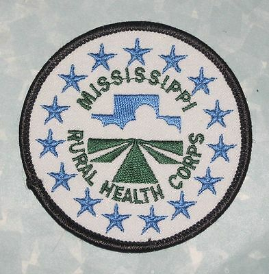 """Mississippi Rural Health Corps Patch - 3"""" x 3"""""""