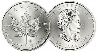 2015 Maple Leaf Silver Coin 1oz pure .999