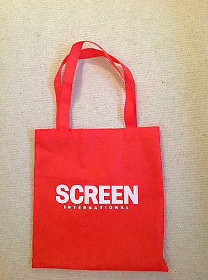 Lovely Lightweight Red Screen International Tote Bag With White Lettering