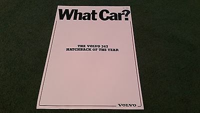April 1979 VOLVO 343 WHAT CAR? HATCHBACK OF THE YEAR REPRINT - UK BROCHURE Daf
