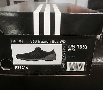 Adidas  360 Traxion Boa WD golf shoes  size 10.5