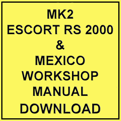 ford escort series 2 rs turbo workshop manual download 4 00 rh picclick co uk Ford Turbo Car Ford Sierra Cosworth Rs 5000