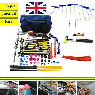 PDR Push Rods Auto Body Tools Paintless Dent Repair Hail Ding Removal Puller bag