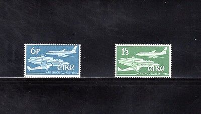 India 1961 Silver Jubilee of Aer Lingus Airlines SG 184/5 MUH