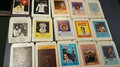 Vintage 8 track tapes. Lot of 15 plus case