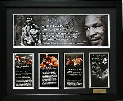 Mike Tyson Limited Edition Signed Framed Memorabilia