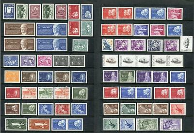 Sweden MM Stamps (a few MNH). 1960's