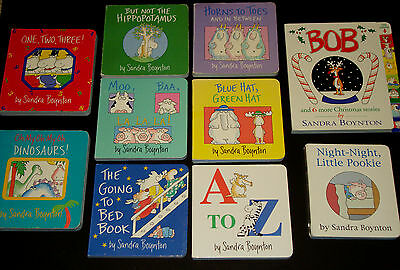 Lot - 10 Sandra Boynton Board Books Baby Toddler Daycare Pookie Christmas Bed