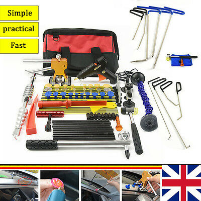 9Pcs Auto Body Rods Pdr Paintless Glue Puller Slide Hammer Auto Body Tools