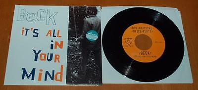"""Beck - It's All In The Mind - 1995 US 7"""" Translucent Brown Vinyl Single"""