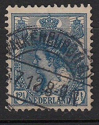 J43) Timbre PAYS-BAS QUEEN WILHELMINA Classic-Stamp 12 1/2 NEDERLAND-HOLLAND