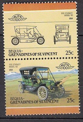 H133) Timbres Neufs MNH (Stanley Model 60) BEQUIA-GRENADINES / CARS-AUTOMOBILES