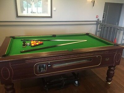 Slate Bed Pool Table 7x4 Fully Refurbed