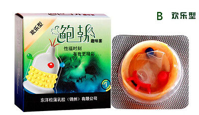 6 Pcs Combination Various New Sex Spike Latex Lubricated Special Enhanced Condom