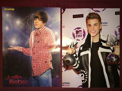 Big lot of Justin Bieber --- / clippings / pinups / posters / card