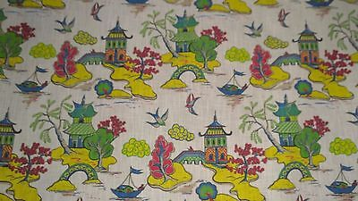 Schumacher*  Chinese/ Pagoda/ Large Toile  Draperies/Upholstery  Fabric  $350