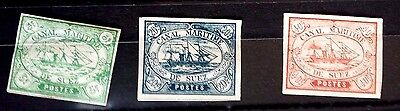 Early  Egypt....  Suez Canal...mint--Hinged..dated 1868  Sail Ship