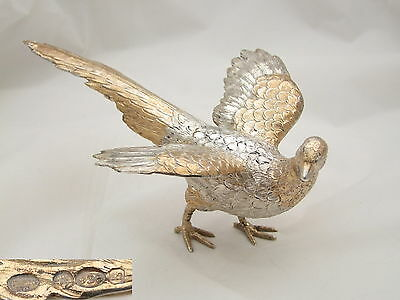 Rare Qe Ii Hm Sterling Silver Table Hen Pheasant 1967