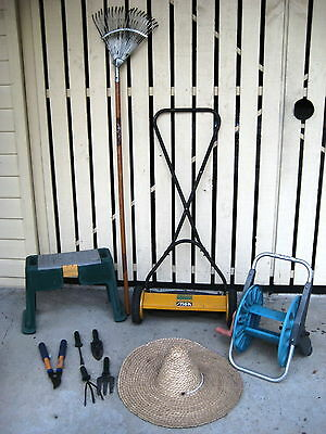 Gardening pack of 10 items -  includes hand push mower worth $30 by itself!