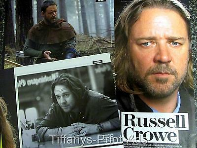 RUSSELL CROWE  Interview 2 Page Magazine CLIPPINGS Feature Photo from Australia