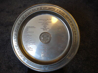 limited edition 40th Anniversary VE day And VJ day Pewter Plate