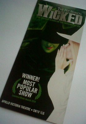Wicked Apollo Theatre flyer London musical witches Oz