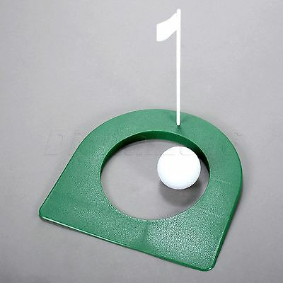 Golf Putting Green Cup With Flag Easy Vision Help Improve Your Putting Accuracy